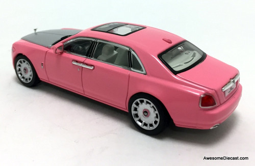 Time Collectables 1:64 Rolls Royce Ghost Extended Wheelbase, Pink