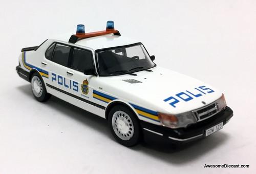 RARE!! Premium X 1:43 1987 Saab 900i: Stockholm Police Department