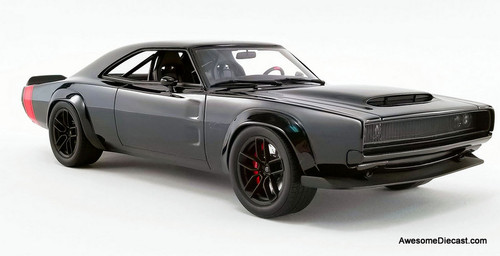 GT Spirit 1:18 1968 Dodge Super Charger, Black: Sema Concept Car