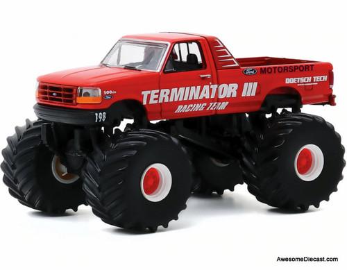 Greenlight 1:64 1993 Ford F-250 Monster Truck: Terminator 111 Racing Team
