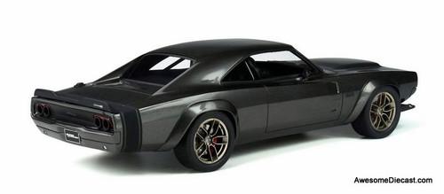 "GT Spirit 1:18 2018 Dodge Super Charger ""Hellephant"" Concept Car, De Grigio Grey Metallic"