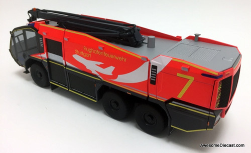 Wiking 1:43 Rosenbauer Panther 6x6 ARFF Airport Crash Truck: Manfred Rommel Int'l Airport - Stuttgart