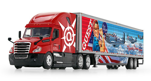 DCP by First Gear 1:64 Freightliner Cascadia w/ Reefer Trailer: Quest Trucking / Honoring Women