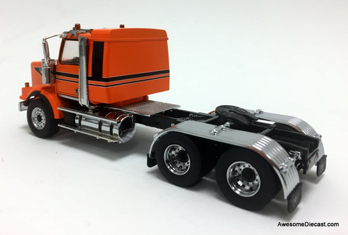 Diecast Masters 1:50 Western Star 4900SB Sleeper Tandem Tractor, Metallic Orange