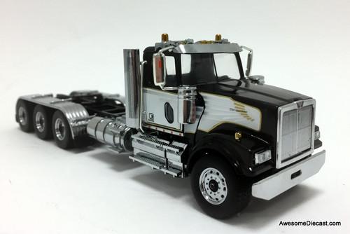 Diecast Masters 1:50 Western Star 4900SF  Day Cab Tridem Tractor, Black