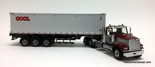 Diecast Masters 1:50 Western Star 4900SF  Day Cab Tridem Tractor w/40' Dry Goods Sea Container