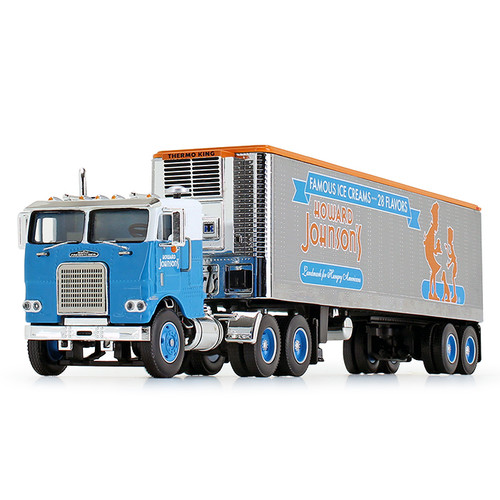 DCP by FG 1:64 White Freightliner COE with 40' Vintage Reefer Trailer: Howard Johnson's