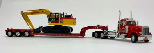 DCP by FG 1:64 Peterbilt 379 w/ Lowboy and Komatsu PC210 Excavator: Sanzari Construction