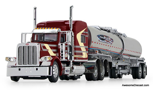 "DCP by FG 1:64 Peterbilt 389 w/ 70"" Sleeper, Red/Cream w/ Brenner Chemical Tank Trailer: Time DC"