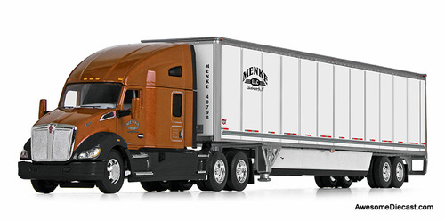 "DCP by FG 1:64 Kenworth T680 76"" High Roof Sleeper w/Wabash 53' Duraplate Trailer w/Skirts: Menke, Inc"
