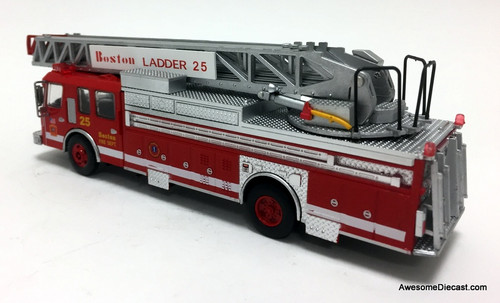 Code 3 Reproductions 1:64 1990 E-One Rear Mount Ladder Fire Truck: Boston Fire Department