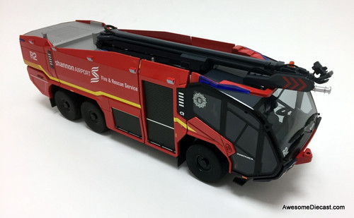Wiking 1:43 Rosenbauer Panther 6x6 ARFF Airport Crash Truck w/ Boom Snozzle: Shannon Airport - Dublin