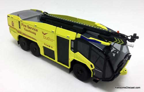 Wiking 1:43 Rosenbauer Panther 6x6 ARFF Airport Crash Truck: Ferenc Liszt Int'l Airport - Budapest