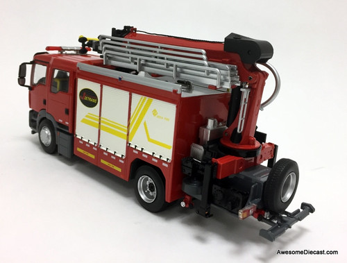 JieDa Fire 1:43 MAN Heavy Rescue Fire Truck: Shanghai Fire Department