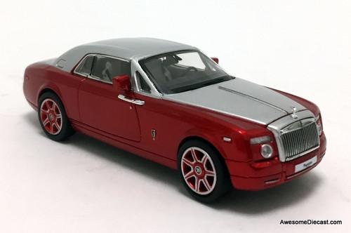 DCM 1:64 Rolls Royce Phantom Coupe, Red/Silver