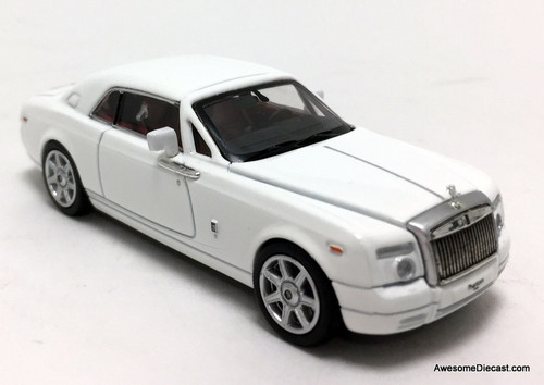 Time Collectibles 1:64 Rolls Royce Phantom Coupe, White