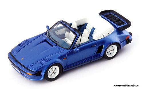 AutoCult 1:43 Porsche 911 SE Flatnose Convertible, Metallic Blue