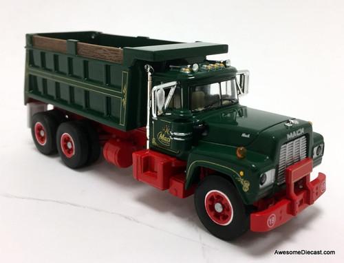 DCP by FG 1:64 Mack R Dump Truck, Red/Green