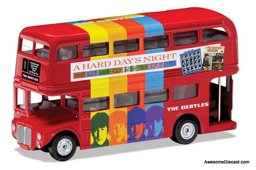 Corgi 1:76 AEC Routemaster London Bus: Beatles Movie, A Hard Day's Night