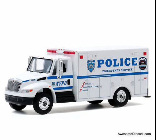 Greenlight 1:64 2013 IH DuraStar Ambulance: NYPD Emergency Services