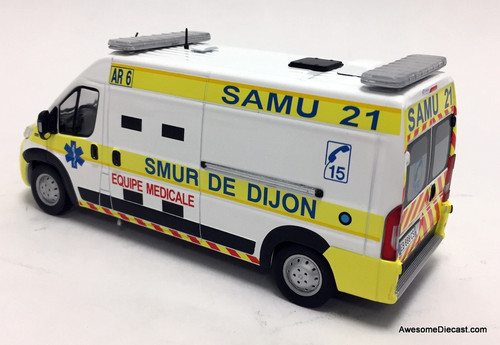 Odeon 1:43 Fiat Ducato Ambulance: Dijon, France EMS