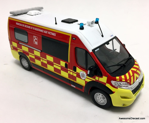 Odeon 1:43 Citroen Jumper Van: French Emergency & Assistance Vehicle For Fire Victims
