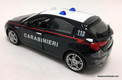 Burago 1:24  2010 Alfa Romeo Giulietta: Rome, Italy Police Department