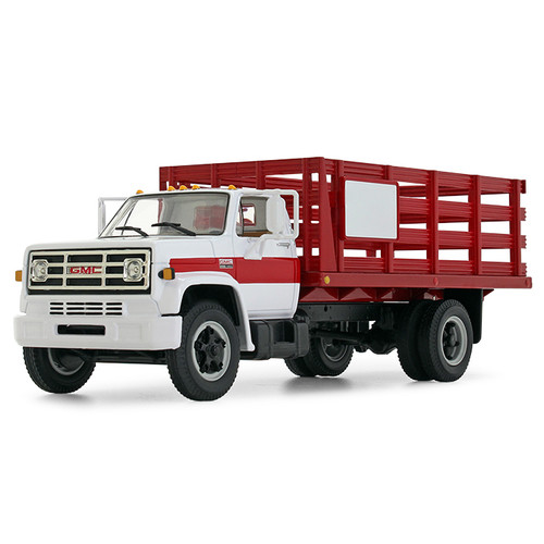 First Gear 1:34 1970 GMC 6500 Stake Truck: White / Red