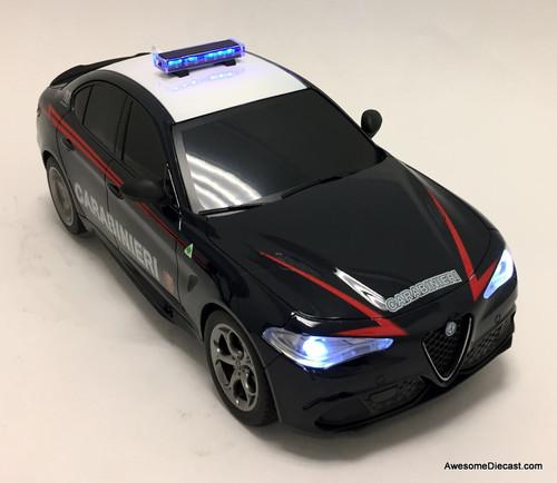 Reel Models 1:18 Radio Controlled 2015 Alfa Romeo Giulia Quadrifoglio: Rome, Italian Police Department