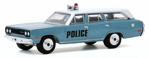 Greenlight 1:64 1970 Plymouth Belvedere Station Wagon: NYC Emergency Police Department