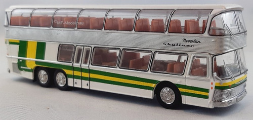 Brekina 1:87 1967 Neoplan NH22 Double Decker Bus: Green/Yellow
