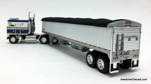DCP by FG 1:64 Kenworth K100 COE Flat Top Sleeper w/Wilson Pace Setter High Sided Grain Trailer