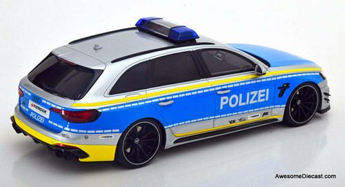 GT Spirit 1:18 2020 Audi A4 RS4 ABT Avant: City of Berlin Police / Polizei