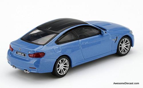 TSM 1:64 2019 BMW 4 Series M4, Yas Marina Blue Metallic