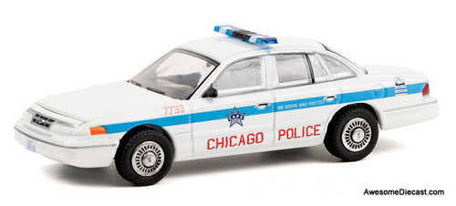 Greenlight 1:64 1995 Ford Crown Victoria Police Interceptor: Chicago Police Department