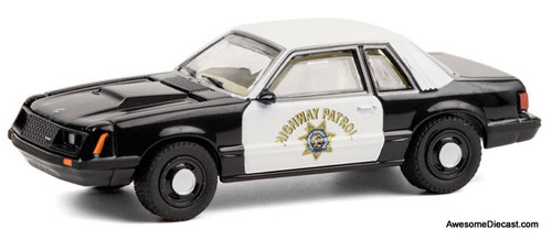 Greenlight 1:64 1982 Ford Mustang SSP: California Highway Patrol