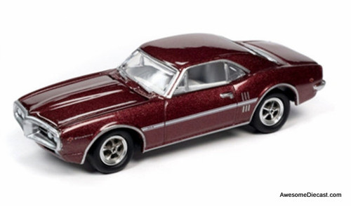 Johnny Lightning 1:64 1967 Pontiac Firebird, Flambeau Burgundy