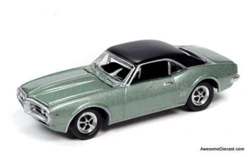 Johnny Lightning 1:64 1967 Pontiac Firebird, Linden Green