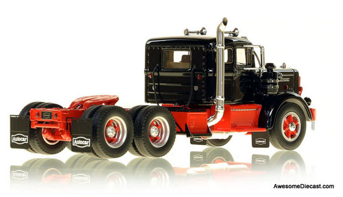 FR 1:50 1954 Autocar DC-100T Tandem Axle Integral Sleeper Tractor: Black/Red