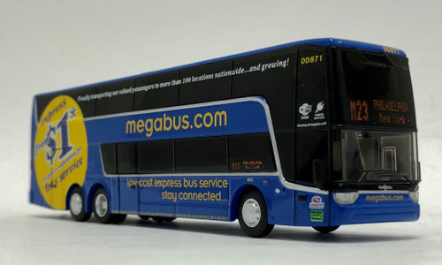 Iconic Replicas 1:87 Van Hool TDX Double Decker Bus: MegaBus