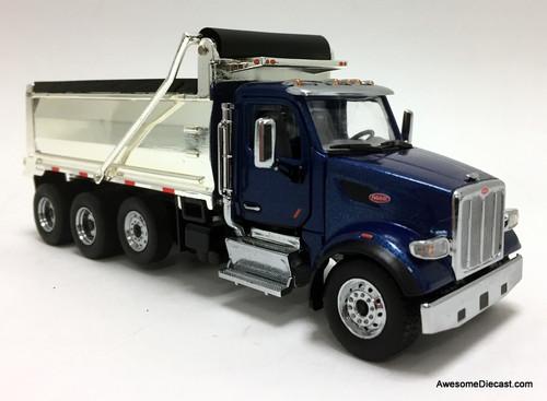 Diecast Masters 1:50 Peterbilt 567 Dump Truck, Legendary Blue w/Chrome Dump Body