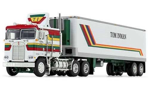DCP 1:64 Kenworth K100 COE Flattop w/ 40' Vintage Refrigerated Trailer: Tom Inman