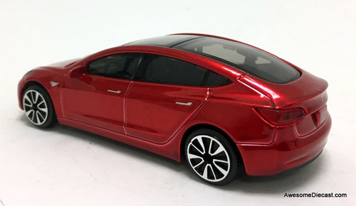 Burago 1:43 Tesla Model 3 - Metallic Red