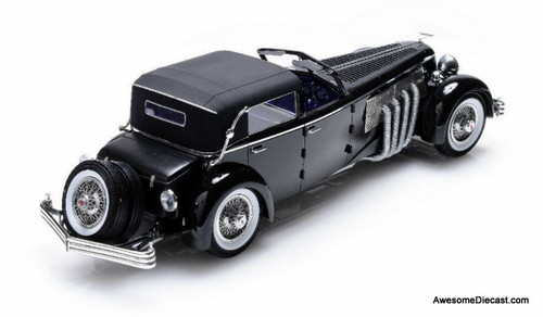 Esval 1:18 1937 Duesenberg SJ Town Car 2405 by Rollson for Mr Rudolf Bauer