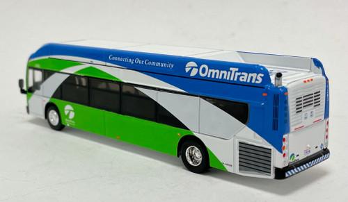 Iconic Replicas 1:87 NFI XCELSIOR XN40 Transit Bus w/ Bike Rack: Omnitrans San Bernardino