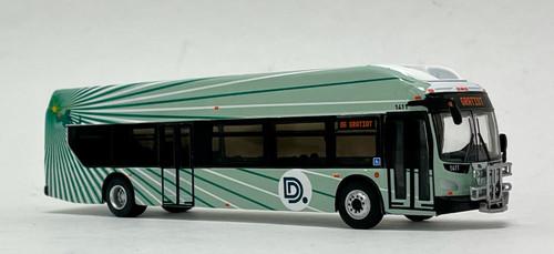 Iconic Replicas 1:87 NFI XCELSIOR XN40 w/Bike Rack: DDOT Detroit