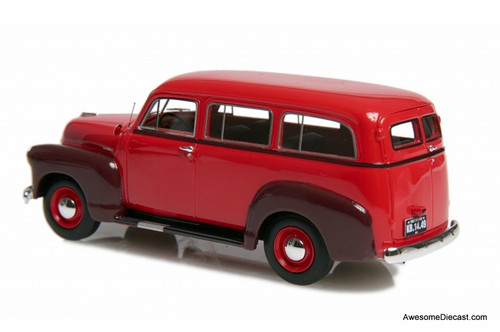 Esval 1:43 1952 Chevrolet 3100 Suburban, Red/Maroon