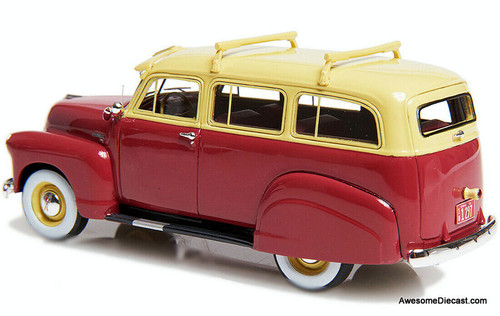 Esval Models 1:43 1951 Chevrolet 3100 Suburban, Red/Cream