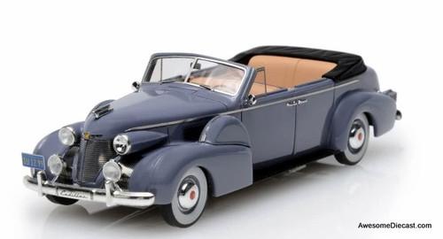 Esval Models 1:43 1939 Cadillac Series 75 Fleetwood Convertible, Gray