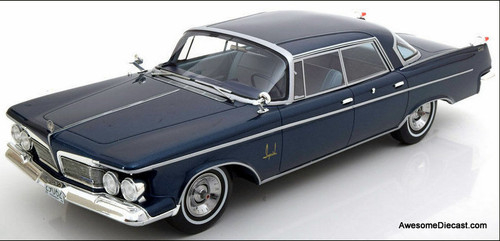 BoS 1:18 1962 Imperial Crown Southampton 4 Door Sedan, Metallic Blue